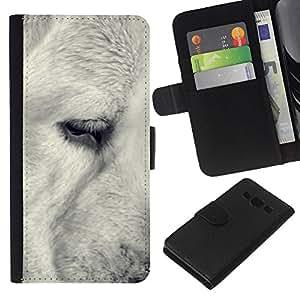 eJoy---La carpeta del tirón la caja de cuero de alta calidad de la PU Caso protector - Samsung Galaxy A3 - --Black White Retriever Muzzle Snout Dog