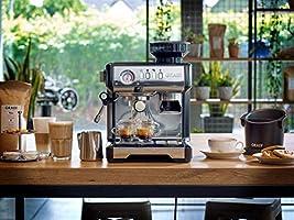 Graef ESM802EU Milegra - Cafetera espresso con portafiltros (1600), color negro: Amazon.es: Hogar