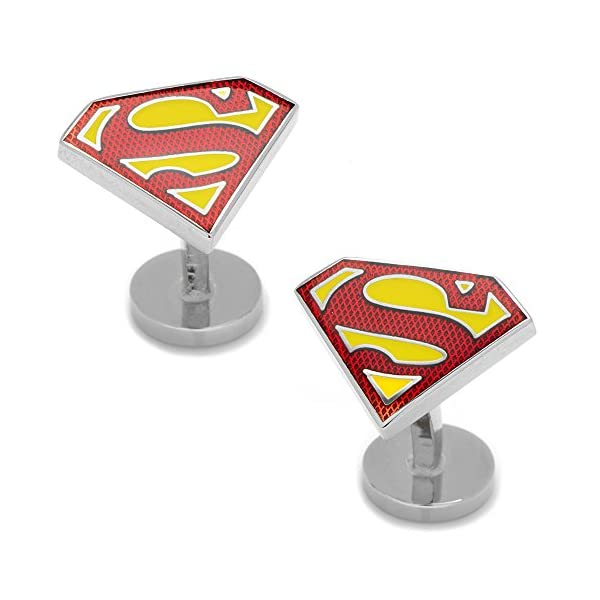 DC-Comics-Mens-Textured-Superman-Shield-Cufflinks-DC-SSTE-SL