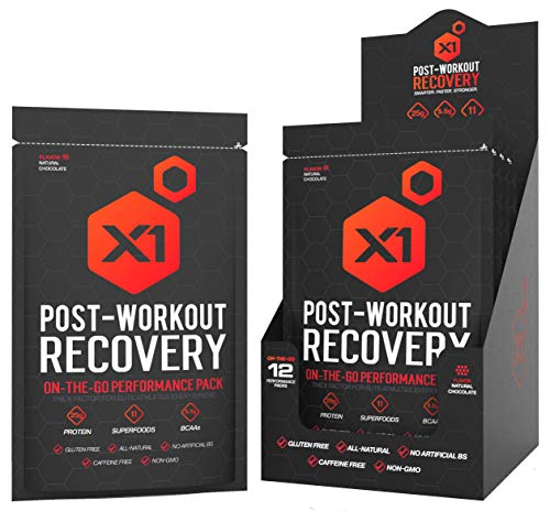 Post Workout Recovery Protein Powder Best All-Natural Muscle Building Supplement, with 25g Protein & BCAAs (Natural Chocolate) (Creatine Pump Fuel)