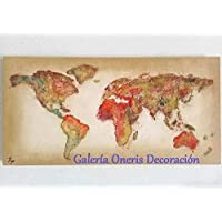 Cuadros decorativos modernos - Pintura Mapa del mundo (Mapamundi) decoración del hogar, obra de arte, art wall, arte, decor home.