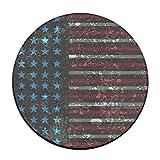 KJDS Anti-Slip Retro America Flag Round Chair Seat Cushion Pad Slipcover 16 Inch