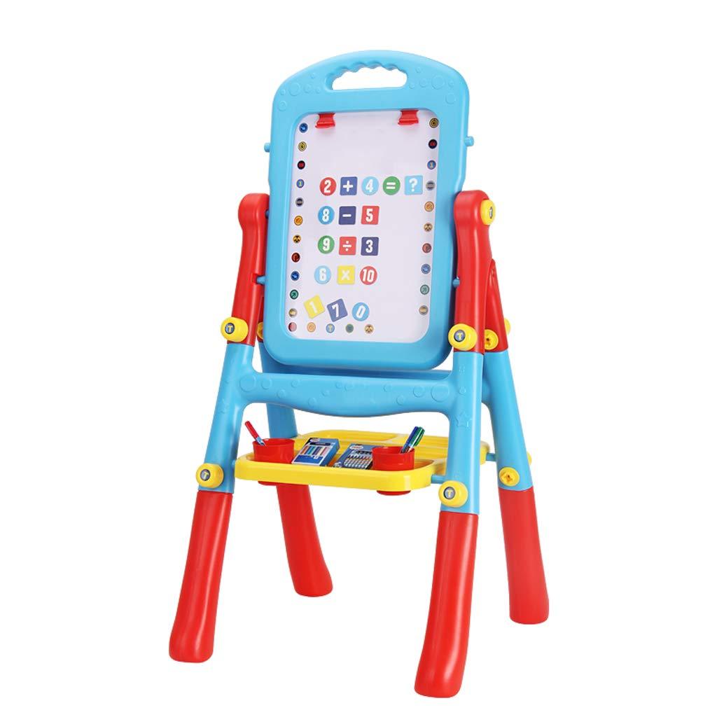 Haodan 電子イーゼルキッズ両面高さ調整スタンディングアートイーゼル – ホワイトボード&チョークボード 図面ボード 学習教育玩具 子供幼児用   B07J3XVXG1