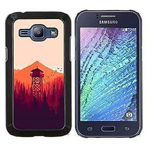 LECELL--Funda protectora / Cubierta / Piel For Samsung Galaxy J1 J100 -- MINIMALISTA NARANJA FORREST --