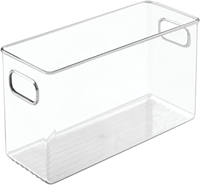 'InterDesign Refrigerator, Freezer and Pantry Storage Container – Food Organizer Bin for Kitchen – Large, Clear' from the web at 'https://images-na.ssl-images-amazon.com/images/I/51SMdMGpojL._AC_SY375_.jpg'