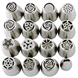 Russian Piping Tips Set (29-Piece Kit)   15 Stainless Steel Icing Nozzles, 1