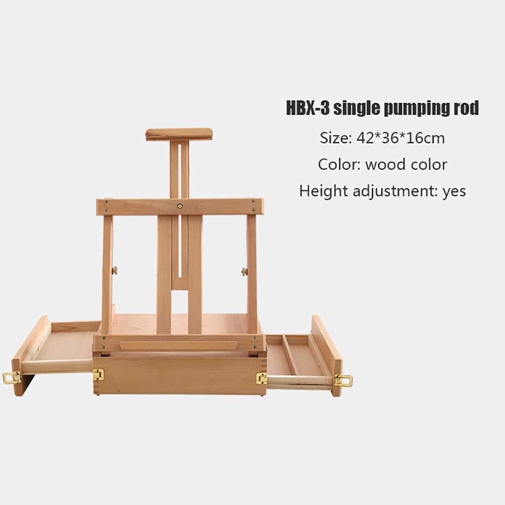 イーゼルアート 絵ボックスタイプエナメル木製イーゼル、リフティングテーブル引き出しイーゼル、折りたたみテーブルフレームイーゼル、3.5キログラムアートツールイーゼル (サイズ さいず : Single pole) Single pole  B07QH6K3B3