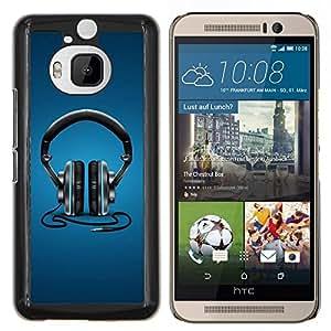 "Be-Star Único Patrón Plástico Duro Fundas Cover Cubre Hard Case Cover Para HTC One M9+ / M9 Plus (Not M9) ( Auriculares de la música beat"" )"