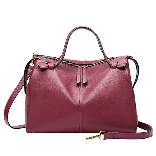 Dissa - Shoulder Bag Smooth Leather Womens Medium Red