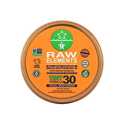 Eco Elements - Raw Elements: Tinted Facial Moisturizer Broad Spectrum, Water Resitant SPF 30+, 1.8 oz
