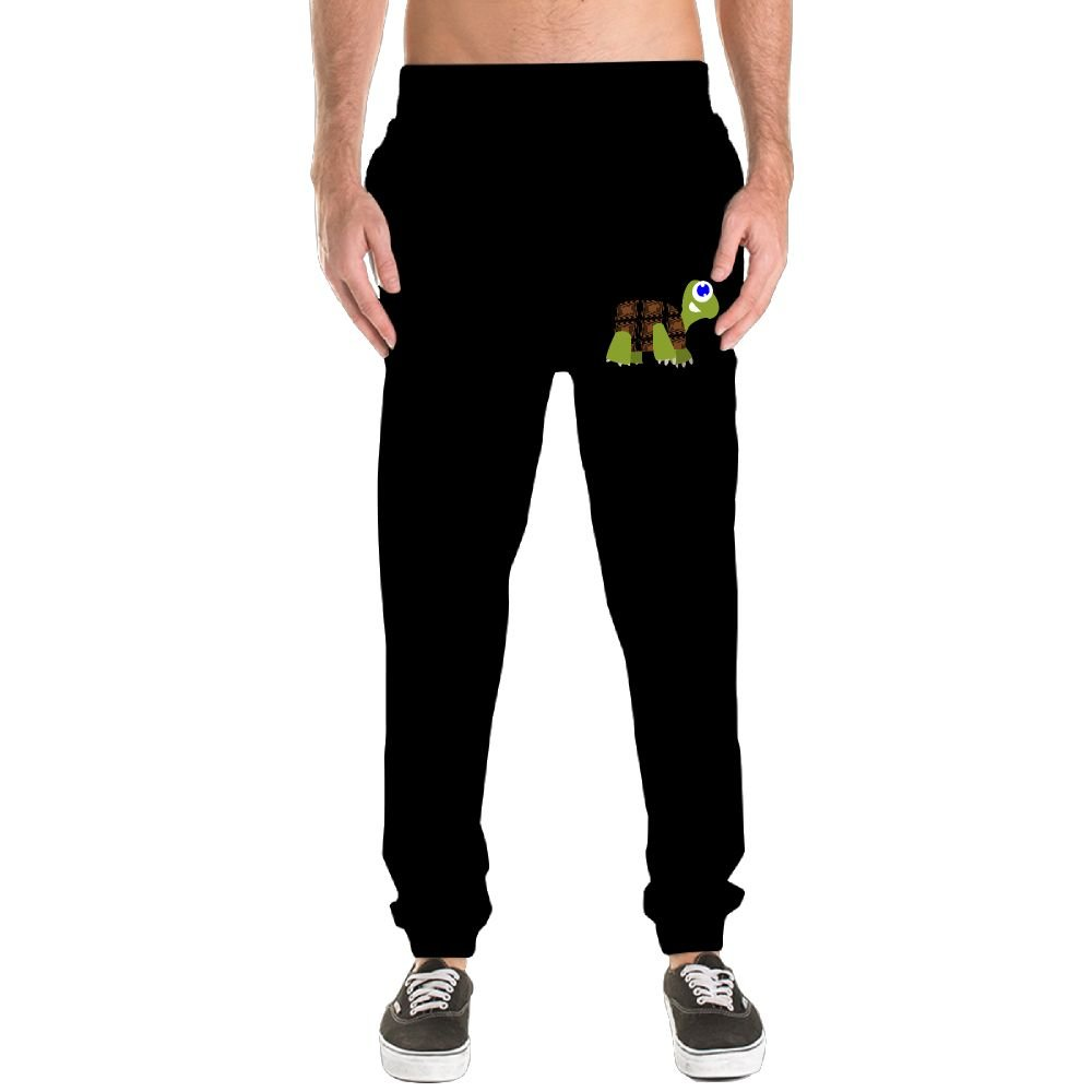 Xianjingshui Crawling Turtles Men's Jogger Sweatpants Drawstring Elastic Waist Outdoor Running Trousers Pants With Pockets