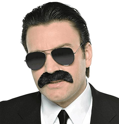 Costumes With A Moustache - Wacky Facial Hair Good Fella Moustache Costume Accessory, Self Adhesive, 1 piece