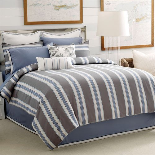 Welspun Nautica Landing Cove Queen Sheet Set, Blue - Nautica Queen Comforter