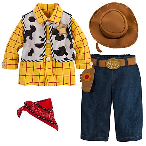 [Disney Store Deluxe Woody Costume for Baby Toddlers 18 - 24 Months (2T or 2 Years)] (Woody Costume Vest)