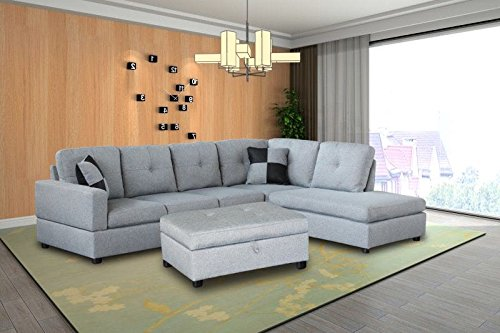 3 Piece Sectional Ottoman - 7