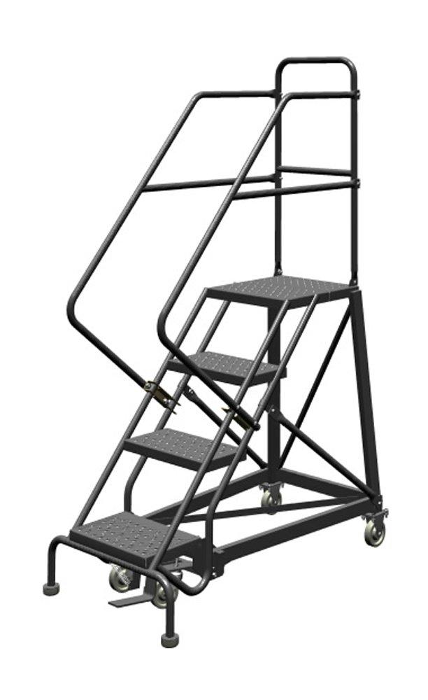 tri-arc kdec103162 en tres pasos adelante ascendencia seguridad ángulo Rolling de acero Industrial y almacén escalera con viga de Grip Tread: Amazon.es: Industria, empresas y ciencia