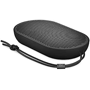 B&O Play Beoplay P2 Portable Bluetooth Speaker, Wireless Splash and Dust Resistant Speaker, Black