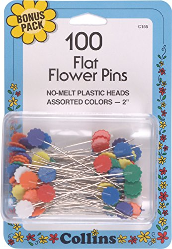 Collins COL155 100 Piece Assorted Flat Flower Pins, 2