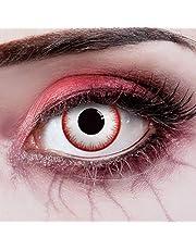 Gekleurde contactlenzen Blood by aricona themafeestjes en Halloweenkostuums