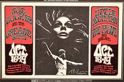 - 1969 Joe Cocker & The Grease Band, Little Richard, The Move Concert Handbill