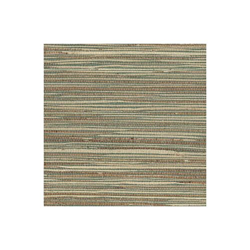 Beige Faux Grass Cloth Wallpaper - 1