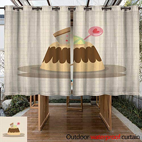 RenteriaDecor Outdoor Curtains for Patio Sheer Decorating Cake Theme Elements Vector eps W96 x L72