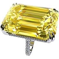 Goldfish Large Jewelry Inspired 925 Silver Citrine Women Wedding Engagement Ring Sz 6-10 (9)