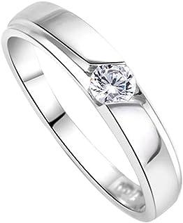 DEHANG – Bague Couple Amoureux en Argent 925 Couple Rings Femme Homme – Fiançailles / Alliance / Mariage - Avec Boîte Cadeau