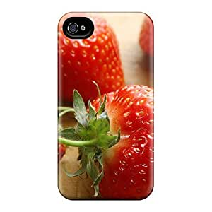 ConnieJCole Iphone 4/4s Well-designed Hard Case Cover Fresh Strawberries Protector