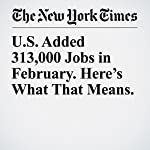 U.S. Added 313,000 Jobs in February. Here's What That Means. | Patricia Cohen