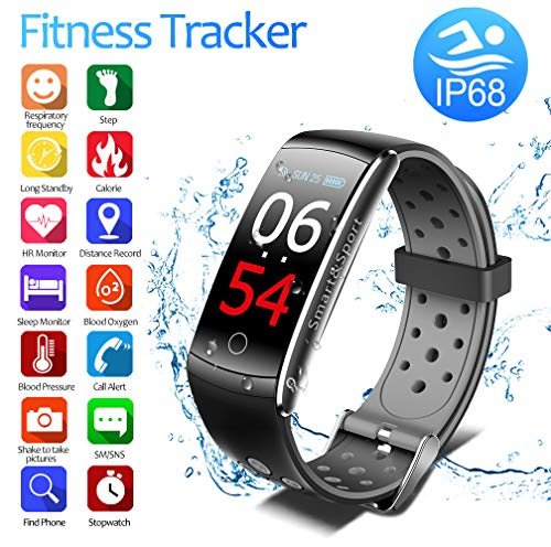Fitness Tracker with Fitness Tracker HR, Color Screen Heart Rate Monitor Watch, Smart Activity Tracker Watch, IP68 Waterproof, Step Calorie Counter, Sleep Monitor, Pedometer Watch