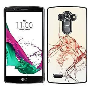 All Phone Most Case / Oferta Especial Duro Teléfono Inteligente PC Cáscara Funda Cubierta de proteccion Caso / Hard Case LG G4 // Abstract Girl - Pop Art