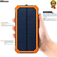 SKnnu Solar Power Bank Solar Charger Sol...