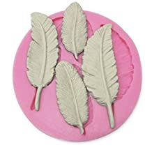 Allforhome(TM) Four Pieces Leaf Shape Silicone 3d Mold Cookware Dining Bar Non-stick Cake Decorating Cupcake Fondant Mould Tools