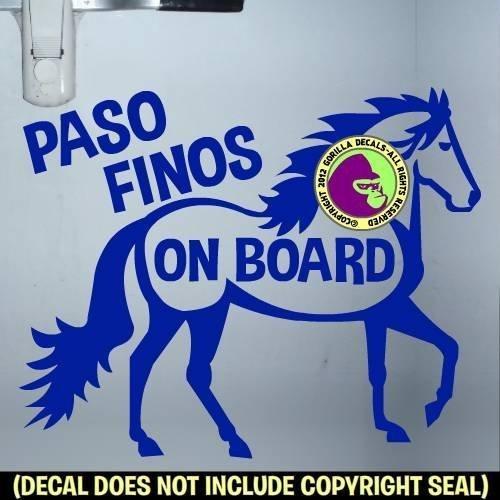 PASO FINOS ON BOARD #1 Trailer Vinyl Decal Sticker A