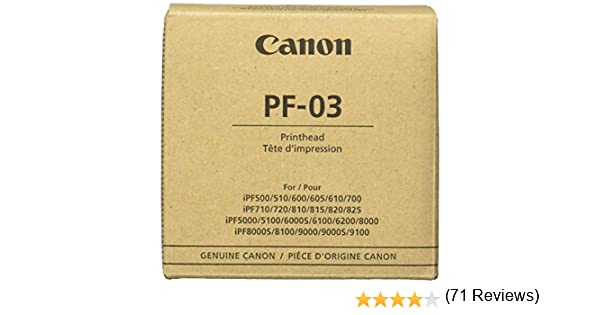 Canon Print Head PF-03 - Cartucho de Tinta: Amazon.es: Electrónica