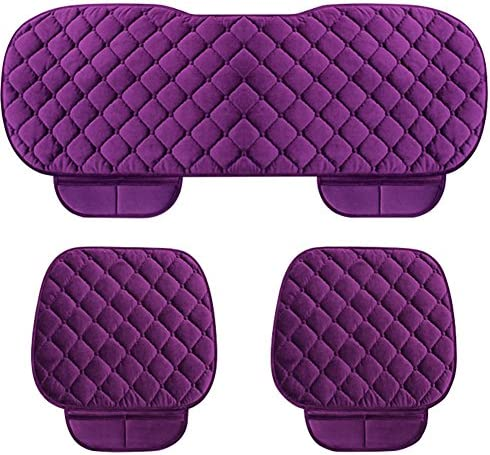 Color : Beige DEALPEAK Anti Slip Car Seat Cushion Cover Pad Mat Lattice Pattern Auto Chair Cushion with Velvet Elastic Plush for Auto Car Supplies
