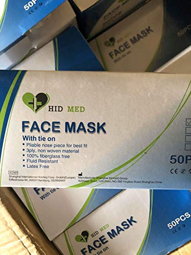 Disposable Surgical Medical Dental Mask Face Mask Industrial Loop Dust Mask 3PLY (50PCS)
