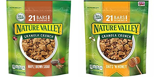 Nature Valley Oats 'N Honey & Maple Brown Sugar Granola Crunch , 16 OZ (Pack of 2)