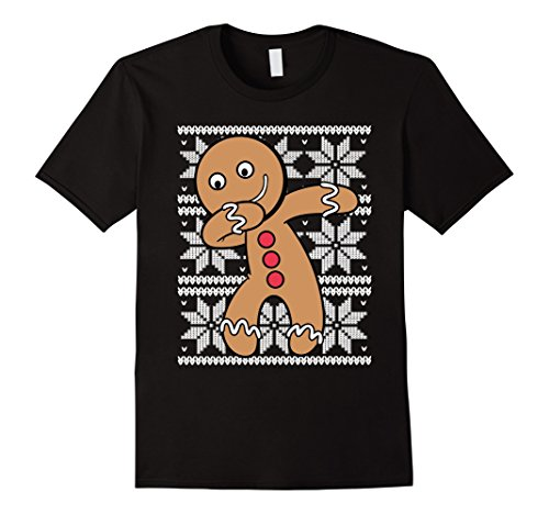 UGLY CHRISTMAS SWEATER SHIRT Dabbing Gingerbread Cookie Xmas (Xmas Breads)