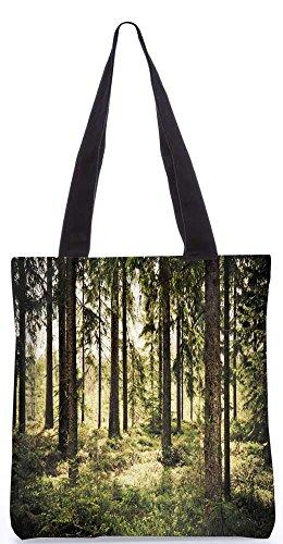 """Snoogg Unheimlich Wald Tragetasche 13,5 X 15 In """"Shopping-Dienstprogramm Tragetasche Aus Polyester Canvas"""
