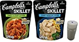 Campbells Skillet Sauces for Chicken Combo Pack. One 11 Oz Pouch Each of Creamy Parmesan and Sweet and Sour Chicken. Easy Method to Prepare Healthy Chicken Dinners. Includes 4 oz Morton Salt Shaker.