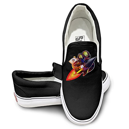 TAYC Kerbal Space Program Non-slip Flats-Shoes Black (Barbie Touch Ipod Case)