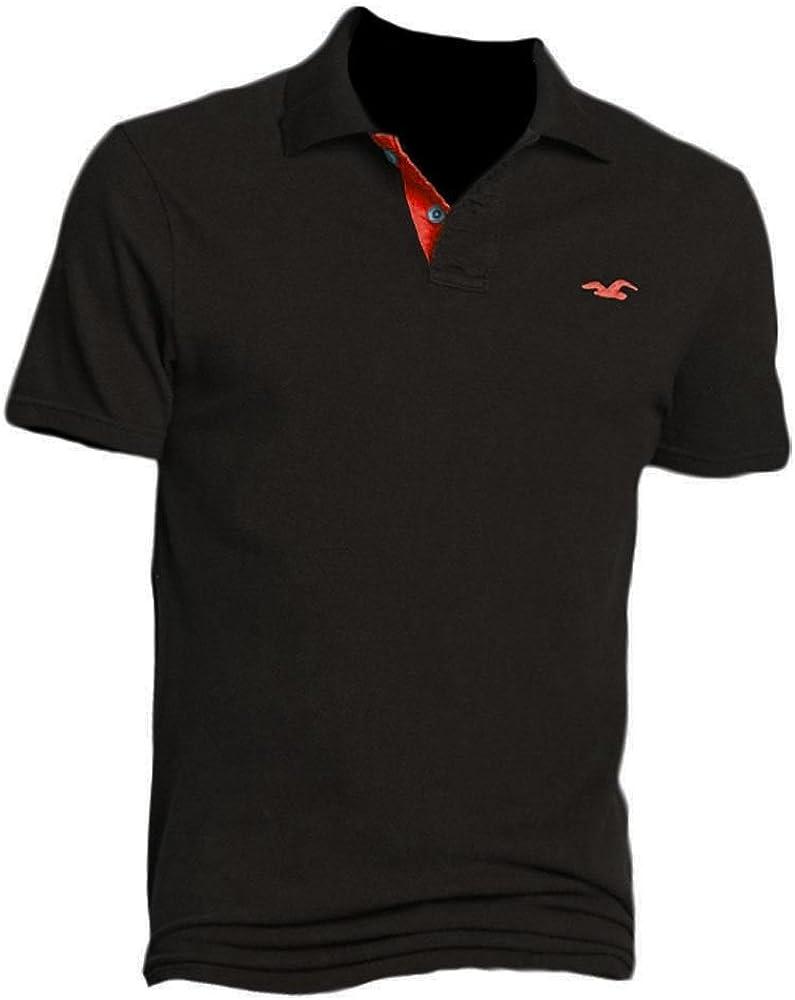 Hollister Hombre Pearl Street Polo Polo Polo Camisa Camiseta (321 – 364 – 0388 – 001) Negro L/56: Amazon.es: Ropa y accesorios