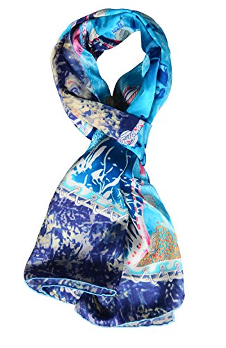 Salutto Women 100% Silk Scarves Monet Painted Scarf (24)