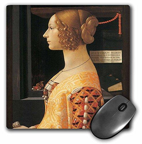 3dRose BLN Italian Renaissance Fine Art Collection - Giovanna degli Albizzi Tornabuoni by Domenico Ghirlandaio - MousePad (mp_127060_1) ()