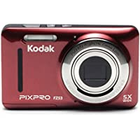 Kodak PIXPRO Friendly Zoom FZ53 16 MP Digital Camera with 5X Optical Zoom and 2.7' LCD Screen (Red)