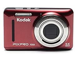 "Kodak Pixpro Friendly Zoom Fz53 16 Mp Digital Camera With 5x Optical Zoom & 2.7"" Lcd Screen (Red)"
