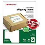 Office Depot Brand 100% Recycled Mailing Labels, Shipping, 3 1/3'' x 4'', White, Box Of 600