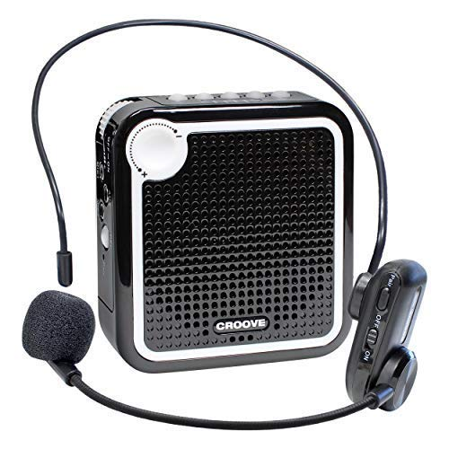 - Croove Wireless Voice Amplifier: Portable Rechargeable Microphone with Headset & Belt Clip - Ideal for Classroom Teachers & Tour Guides